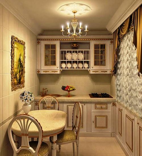 Дизайн кухни маленькая кухня классика